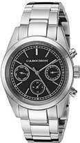 Cabochon Women's 1102 De Ce Monde Analog Display Swiss Quartz Silver Watch