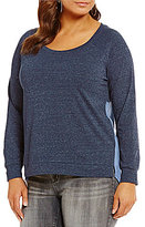 Blu Pepper Plus Long Sleeve Hi-Low Hem Top