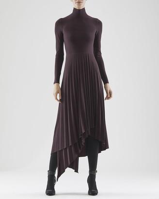 Halston Liv Jersey Pleat Dress