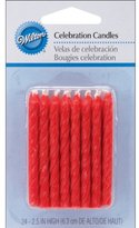 Wilton Birthday Candles, 2.5-Inch, Red, 24-Pack