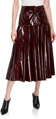 Palmer Harding Fused Shiny Patent Midi Skirt