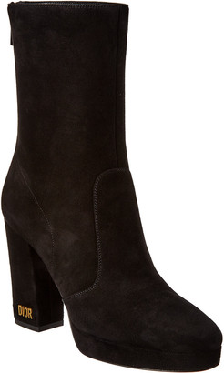 Christian Dior D-Rise Suede Ankle Boot