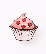 Pink Valentine Cupcake Brooch