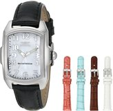 Invicta Women's 5168 Baby Lupah Collection Mother-of-Pearl Dial Shiny Leather Interchangeable Watch Set