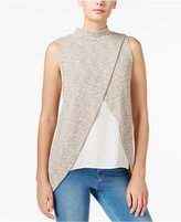 Bar III Front Overlay Knit Top, Only at Macy's