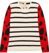 Chinti and Parker Ladybird Intarsia Cashmere Sweater - Cream