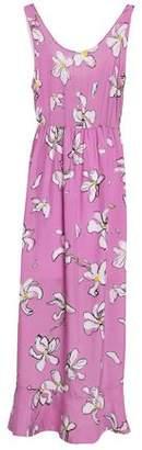 Isa Arfen Ruffled Floral-print Silk Crepe De Chine Midi Dress
