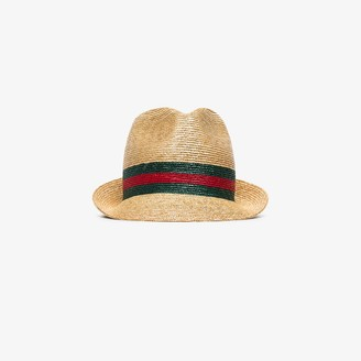 Gucci Woven Straw Fedora Hat