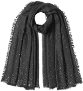 Faliero Sarti Sequinned Scarf with Wool, Silk and Cashmere