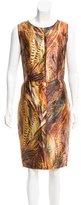 Dolce & Gabbana Silk Feather Print Dress w/ Tags