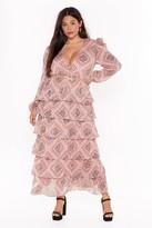 Nasty Gal Womens Paisley It Forward Tiered Maxi Dress - Beige - 16, Beige