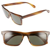 Oliver Peoples Men's Brodsky 55Mm Polarized Sunglasses - Black