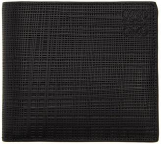 Loewe Black Linen Bifold Wallet