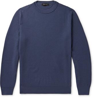 Ermenegildo Zegna Waffle-Knit Wool And Cashmere-Blend Sweater