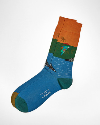 Ted Baker TROPICL Pantherella parrot design socks