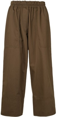 Lee Mathews Drill Cropped Trousers