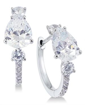 Eliot Danori Crystal & Stone Huggie Hoop Earrings, Created for Macy's