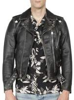 Saint Laurent Distressed Skin Leather Jacket