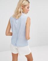 Fashion Union Button Back Shirt With Collar
