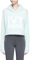 Ivy Park Logo print French terry cropped hoodie