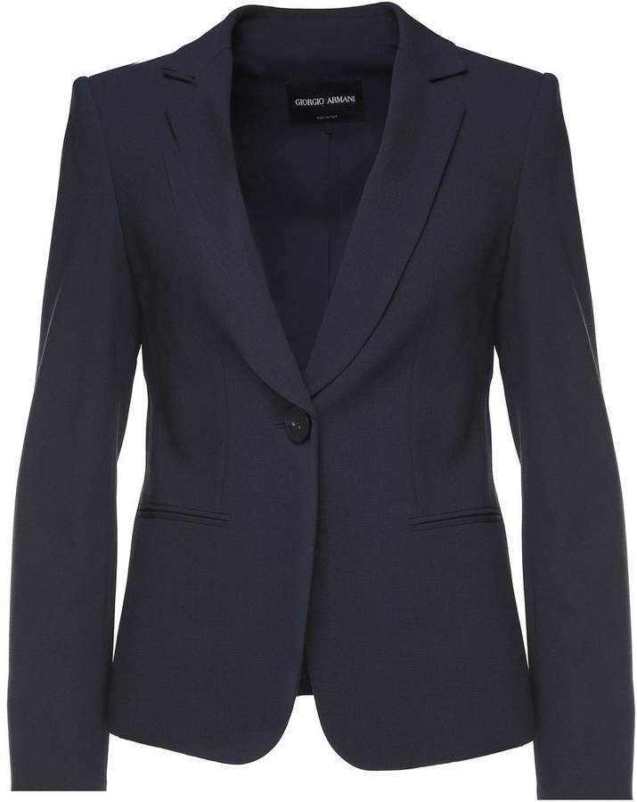 Giorgio Armani Single-breasted Wool-crepe Jacket