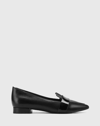 Wittner - Women's Black Loafers - Maisy Pointed Toe Flats - Size One Size, 40 at The Iconic