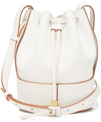 Loewe Balloon Small Leather Shoulder Bag - Womens - White