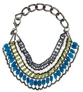 Erickson Beamon Bead Multirow Collar Necklace