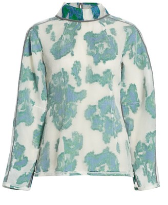 3.1 Phillip Lim Abstract Daisy Fil Coupe Top