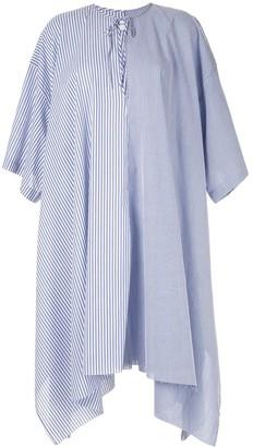 Marques Almeida Marques'Almeida striped poplin dress