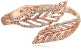 GUESS Crystal Feather Bypass Hinged Bypass Bangle Bracelet