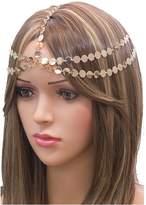 {CH0167 STYLE NO 1} Beautiful Gold Plated elegant, bridal, wedding, bohemian head chain for Women