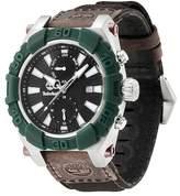 Timberland Men's Hookset Multifunction Leather Strap Watch, 44mm