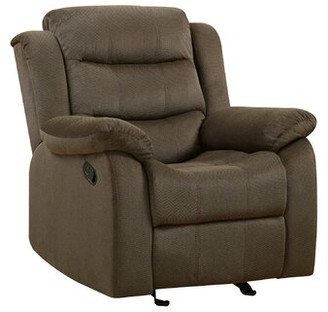 Red Barrel Studio Irven Manual Glider Recliner Fabric: Chocolate
