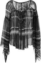 Plein Sud Jeans peasant blouse - women - Silk - 38