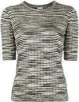 M Missoni striped top - women - Cotton/Polyamide/Viscose/Metallic Fibre - 44