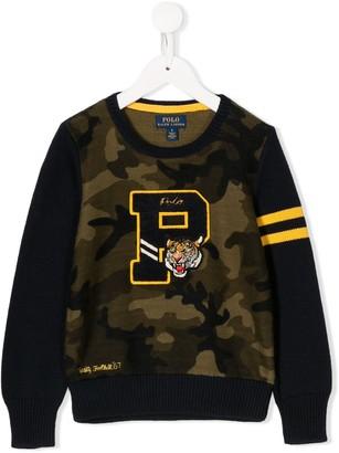 Ralph Lauren Kids Camouflage Varsity Sweatshirt