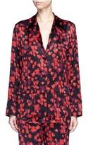 Givenchy Floral print silk satin pyjama shirt
