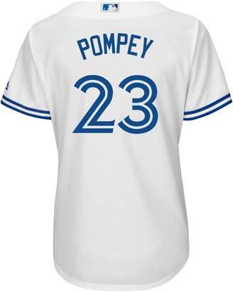 Majestic Athletic-Fit Dalton Pompey Toronto Blue Jays Jersey Top