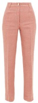 Giuliva Heritage Collection The Altea Houndstooth Linen Trousers - Womens - Red White
