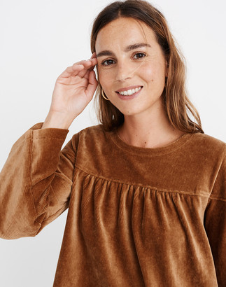 Madewell Texture & Thread Corduroy Swing Top