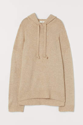 H&M Knitted hooded jumper