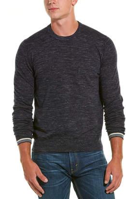 Vince Pocket Crew Neck Wool-Blend Pullover
