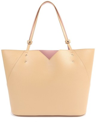 Stacy Chan London Veronica Tote In Nude Saffiano Leather