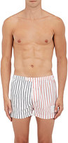 Thom Browne Men's Striped Cotton Poplin Boxers
