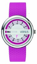 Versus By Versace Women's SGI040013 Osaka Round Stainless Steel Pink Leather Band Watch
