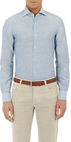 Isaia MEN'S SLUB-WEAVE DRESS SHIRT
