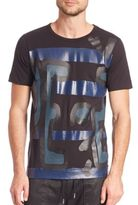 Diesel Black Gold Graffiti Print T-Shirt