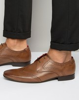 Base London Sew Leather Oxford Brogue Shoes