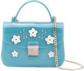 Furla floral appliqué shoulder bag - women - Leather/PVC/metal - One Size